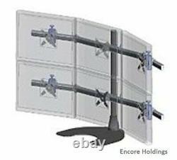 Ergotech Hex 3 Over 3 LCD Monitor Desk Stand Black 100-D28-B33