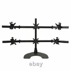Ergotech Hex LCD Monitor Desk Stand 28 pole Black Hex 3 over 3 withHeavy Du
