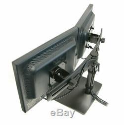 Ergotron 33-322-200 DS100 DUAL MONITOR DESK STAND (2 X LCD HORIZONTAL) BLACK