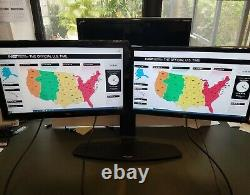 Ergotron Dual LCD Monitor Stand with 2 monitors included