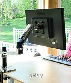 Ergotron LX Desk Monitor Mount LCD Arm Stand Polished Aluminum