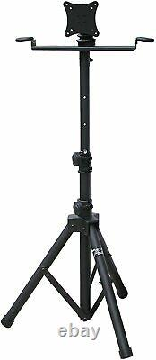 Flat Panel LCD TV/ Monitor Stand with Microphone Holder 420Y Portable Vesa MR