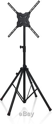 Gator Frameworks Deluxe Adjustable Quadpod LCD/LED TV Monitor Stand with Lift up