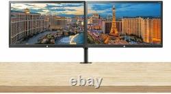 HP 22uh 21.5 FHD Monitor 2-Pack 1920x1080 HDMI/DVI/VGA Desk Mount Dual Stand