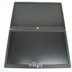 HP E232 23 Flat Panel LCD Monitor Lot of 2 No Stands Grade A