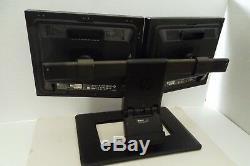 HP L1965 19 Dual Monitor with4-USB Hub Port Ergotron Stand DVI RA373A 418598-001