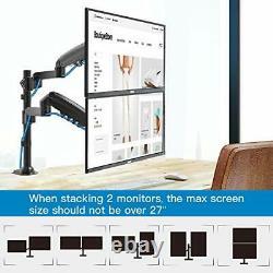 HUANUO Dual Monitor Mounts Fit 17-32 Flat Arc LCD/LED Screen, Twin