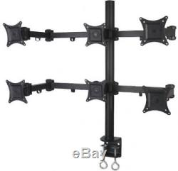 Hex LCD Computer Monitor Desk Mount Stand Heavy Duty Adjustable 6 Screens New