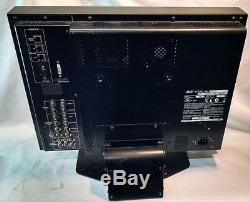 JVC 20-INCH MULTI-FORMAT BROADCAST STUDIO LCD MONITOR with stand DT-V20L1UA Used