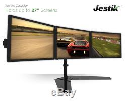 Jestik Horizon Triple Monitor Stand- LCD Monitor Stand, Monitor Mount, Triple