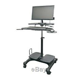 Kantek Sit to Stand Mobile Computer Workstation with LCD Monitor Mount Pole ST