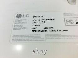 LG 27MU88-W 27 Monitor with Adjustable Stand and PSU
