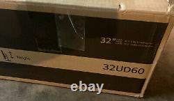 LG 32UD60-B 31.5 4K UHD FreeSync Monitor Height Adjustable Stand New Open Box