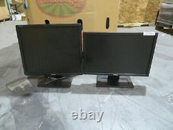 LOT OF 100 DELL DESKTOP COMPUTER MONITORS LCD 19 inches WITH STAND TESTED