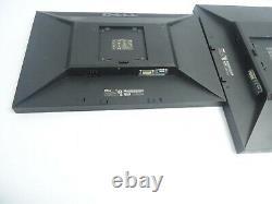 LOT OF 2 Dell E2209W 22 LCD Flat Panel Widescreen Monitor DVI VGA