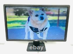 LOT OF 2 Dell E2414HT DVI & VGA Ports 1920x1080 24 Monitor LED Widescreen LCD