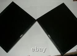 LOT OF 2 Dell UltraSharp Black/ Black 19-inch LCD Monitors NO Stands