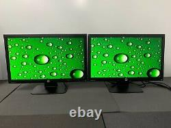 LOT OF 2 HP ProDisplay P221 21.5 Full 1080p HD 60Hz LED Backlit LCD with STAND
