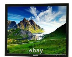 LOT OF 5 Dell P190S 1908FP 19 Black LCD Monitors DVI VGA 1280x1024 No Stands