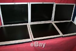 LOT OF 6 HP COMPAQ (3) L1906 (3) LE1911 FLAT PANEL 19 LCD-Tested-NO STANDS