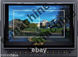 Lilliput 75D-II HDMI In LP-E6 adapter Camera Monitor Canon 5D2+shoe stand+cable