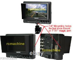 Lilliput 7 665/O v2 HDMI In & Out Monitor+Hot shoe stand+HDMI cable+BNC adapter