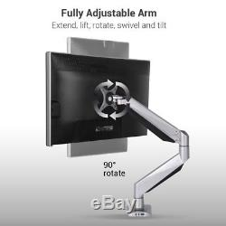Loctek D7R Swivel Gas Spring Single LCD Arm Stand monitor Mount, the weight