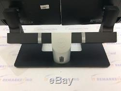 Lot (2x) Dell UltraSharp P2414Hb 24 LED LCD Monitors + MDS14 Dual Monitor Stand