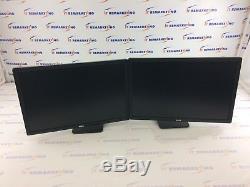 Lot (2x) Dell UltraSharp U2412Mb 24 LCD HD Monitors with MDS14 Dual Monitor Stand