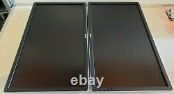 Lot Of 2 Dell P2414Hb 24 LCD Monitors 1920 x 1080 VGA/DVI No Stands No Cables