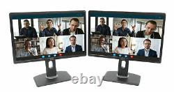 Lot of 2 Dell 22 Professional P2213T LCD Monitors with VGA DVI STANDS