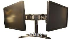 Lot of 2 Dell P2210t Widescreen LCD Computer Monitor with Dual Stand