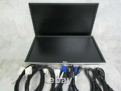 Lot of 2 Dell P2214Hb LCD 22 Monitor with Power and Video Cables