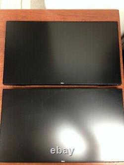Lot of 2 Dell U2417H Ultrasharp 24 1920x1080 LED Monitor 0XVNNT No Stand M454