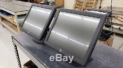Lot of 2 ELO ET1715L-AUWA-1-GY-G Touch Monitors with stand E324654