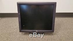 Lot of 2 Elo Touch E719160 ET1715L 17 Touchscreen Monitors Stand Cables POS LCD