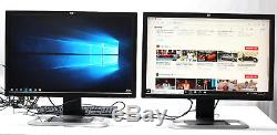 Lot of 2 HP LP3065 EZ320A 30 LCD Monitor 2560x1600 with Stand & Cables