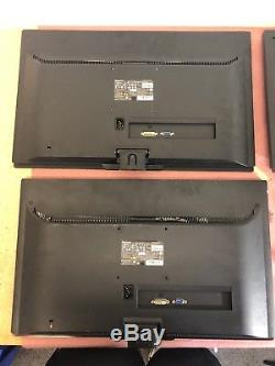 Lot of 3 Lenovo LS2323WA 23 Widescreen LED LCD Monitors with Cables No Stands