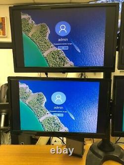 Lot of 4 ViewSonic VA2246M-LED LED LCD Monitor 22 with Quad Monitor Stand