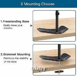 Major Brand Dual LCD 22 Vga Flat Monitor Screen Gaming With Dual LCD Stand