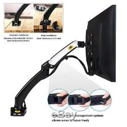 Monitor Arm Stand 17-27 LCD Screen Full Motion Swivel Gas Spring Desk Mount