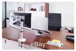 Monitor Laptop Holder Stand Computer Desktop Mount Desk 25inch LCD Dual Arm