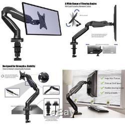 Monitor PC Mount Arm Desk Stand LED LCD Screen Computer Bracket Holder Swivel UK