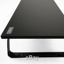 Monitor Riser Stand Single Black Mount Screen Lcd Tv Computer Desk Display Led