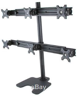 Monmount LCD-6490 6 Monitor Stand Mount for Six Monitors up to 25