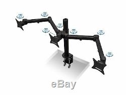 Mount-It! MI-753 Triple Screen LCD Computer Monitor Desk Mount Stand Arm for