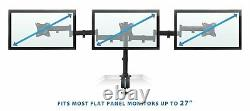 Mount-It! Triple Monitor Mount 3 Screen Desk Stand For Lcd Computer Monitors For