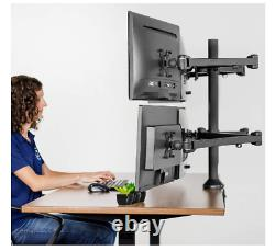 Mount Rack Stand Up To Six 6 Seis Desktop Computer LCD Monitors Screens Multi