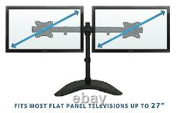Multiple Monitor Stand Free Standing Dual Desk LCD Mount Adjustable up to 27