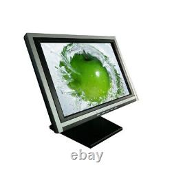 NEW 15'' Touch Screen Monitor LCD VGA POS Retail Restaurant with POS stand 110V US